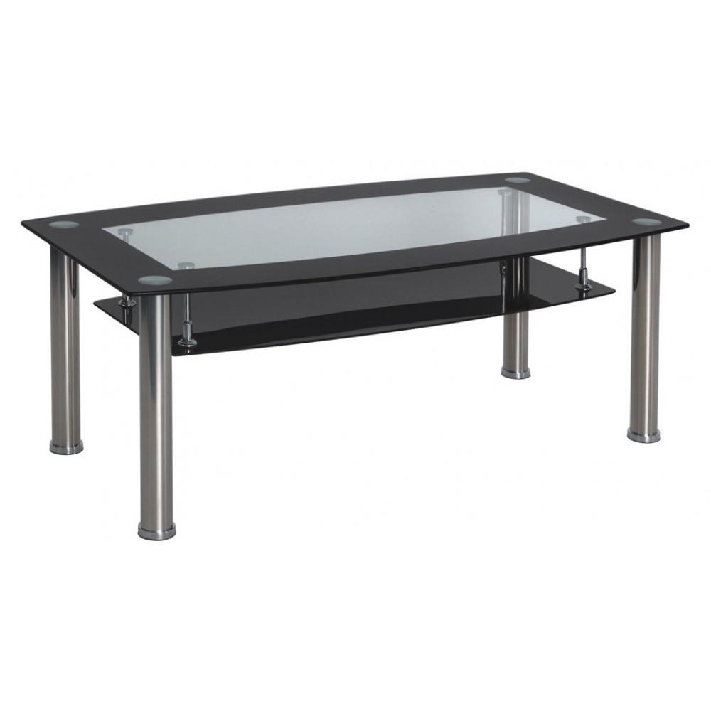 Стол стеклянный черный