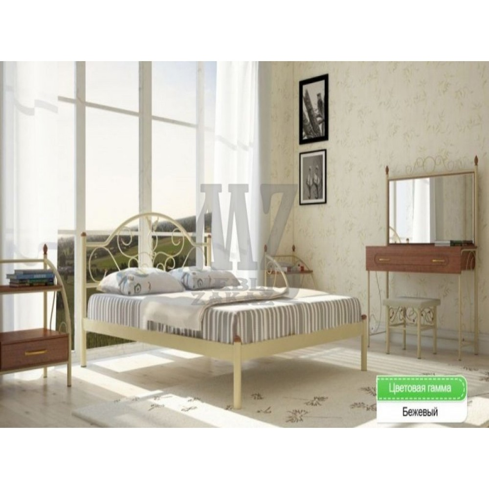 Кровать металлическая Анжелика 1600*2000
